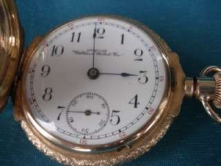 Vintage AMERICAN WALTHAM SOLID 14K GOLD POCKET WATCH 147 GRAMS HUNTER