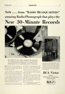 RCA Victor Radio Phonograph Model RAE 26 Antique Record Player Nipper