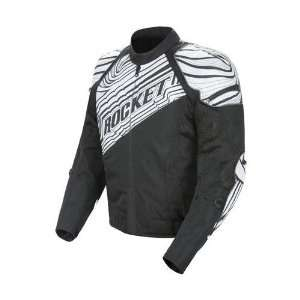 JOE ROCKET MENS FALLOUT MOTORCYCLE JACKET black/white