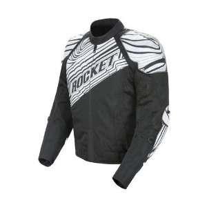 JOE ROCKET MENS FALLOUT MOTORCYCLE JACKET black/white