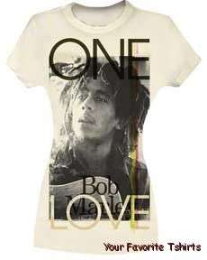 Licensed Bob Marley One Love Junior Tee Shirt S XL