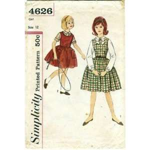 Sewing Pattern Girls Jumper & Blouse Size 12: Arts, Crafts & Sewing