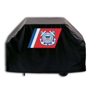 Coast Guard Grill Cover with Seal logo on stylish Black Vinyl by