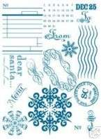 Basic Grey Clear Rubber Stamp Set   North Pole