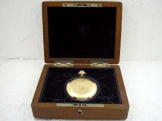 HORLOGERE 14K SOLID GOLD ANTIQUE ALL ORIGINAL SWISS MENS POCKET WATCH
