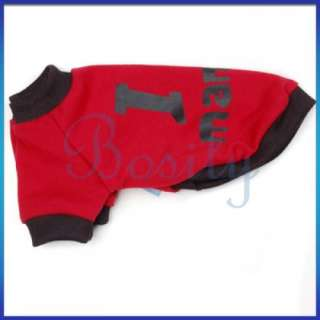 Puppy Pet Dog T Shirt Coat Jacket Sports Jersey Spring Summer Clothes