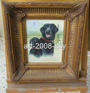 Old Framed Animals Oil painting artdogon canvas