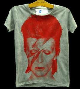 David Bowie ZIGGY STARDUST Vintage Punk Rock T Shirt M