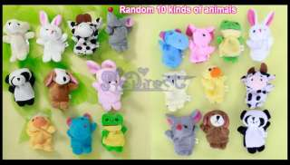 10 Forest Animal Family Story fairy tale Finger Puppets Toy Teach