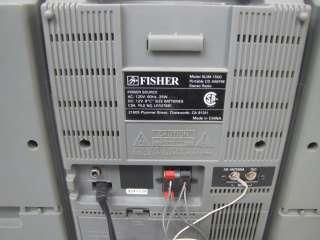 FISHER SLIM 1500 AM/FM STEREO RECEIVER/CD PLAYER BOOKSHELF SYSTEM