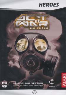 Act of War HIGH TREASON Combat Strategy PC Game NEW BOX 3546430119884