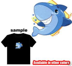 Baby Animal Shark Kids Child Boy Girl COLOR T Shirt