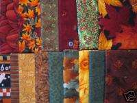 FAT QUARTERS Fall Autumn Harvest Collection 3 3/4 yards