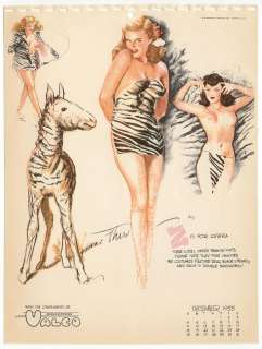 MacPherson Glamour Girl Calendar Pin Up   Dec 1955