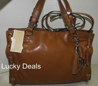 MICHAEL KORS Large SALINAS SATCHEL LEATHER HANDBAG BAG LUGGAGE