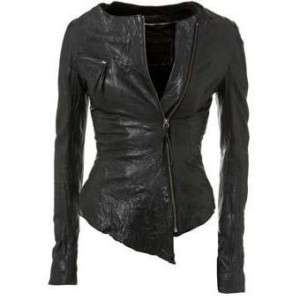 NEW*E FUNK Washed Soft 100 % Lamb Leather Aim Jacket !