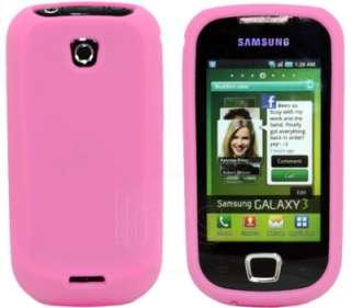 Magic Store   B PINK SILICONE CASE FOR SAMSUNG i5800 GALAXY 3 APOLLO