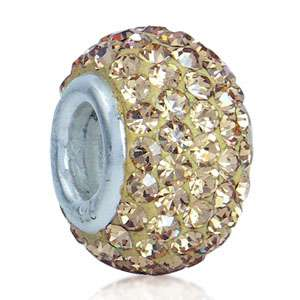 Nagara Crystal 925 Sterling Silver European Bead Charm