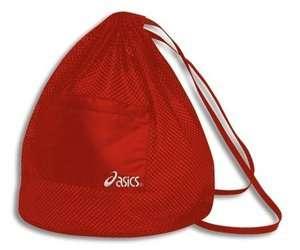 ASICS Mesh Backpack Drawstring Sports Gym Bag Red NEW L@@K