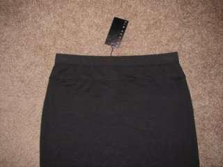 ELM DESIGN BLACK PIMA COTTON LONG STRAIGHT DRESS SKIRT NWT 3 M L $285