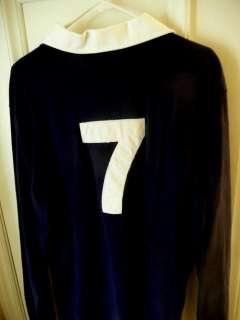 Ralph Lauren Polo Mens Rugby Shirt L Large gold Crest