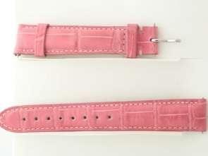 Michele Pink Genuine Alligator 16mm Watch Strap Band