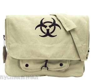 KHAKI BIO HAZARD VINTAGE MILITARY BAG
