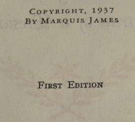 ANDREW JACKSON PRESIDENT~MARQUIS JAMES BOOK~1ST ED~1937