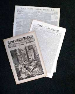 This is a unique three issue set of authentic Civil War newspapers