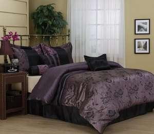 Lavender 7 piece Comforter Set bed in bag Brand NEW King/Queen