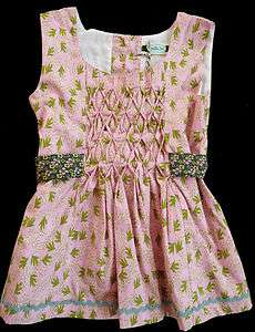 Matilda Jane Clothing MJC Girl 4 6 HOUSE OF CLOUDS HOC Smocked Pink