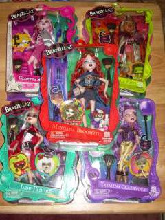 Bratz BRATZILLAZ Glam Witch Dolls COMPLETE SET OF 5 Cloe Meygan Jade