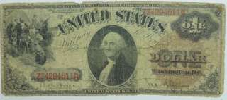 1880 US $1 ONE DOLLAR BILL LARGE NOTE PAPER CURRENCY P234054