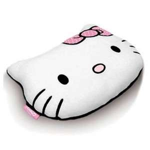 HELLO KITTY HEAD SHAPED BOW PLUSH EMBROIDED CUSHION BED ROOM DECOR