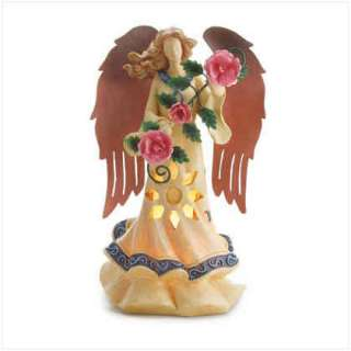 Folk Art European Country Angel Table Lamp Night Light