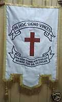 Masonic Knight Templar Lodge Crusade Flag Banner Cross
