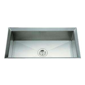 Stainless Steel 33 in. x 18 in. x 9.75 in. Single Bowl Kitchen Sink