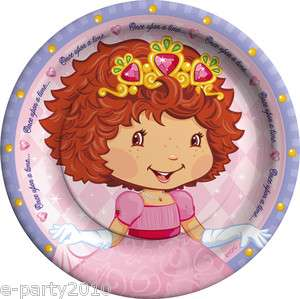 STRAWBERRY SHORTCAKE Princess Cake PLATES ~ Vintage Birthday Party