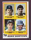 1978 TOPPS ALAN TRAMMELL PAUL MOLITOR RC TIGERS