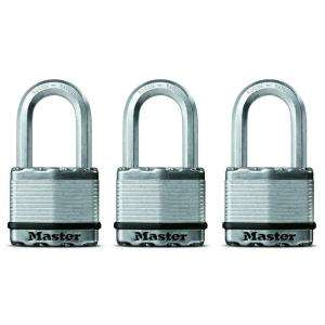 Master Lock Magnum 2 Laminated Padlock with 1 1/2 Shackle (3 pack