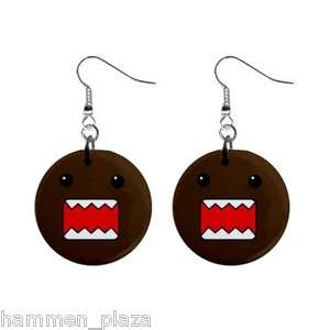 Domo Kun V2 Cute Cool Button Earring Gift New Collector MNH