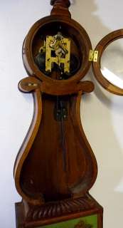 Terrific Carved Lyre 8 Day Striking Banjo Clock |