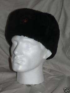 RUSSIAN MILITARY ARMY SOVIET USHANKA HAT BLACK TRAPPER