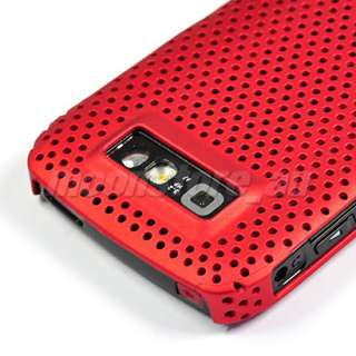 HARD MESH CASE COVER POUCH FILM FOR NOKIA E71 RED