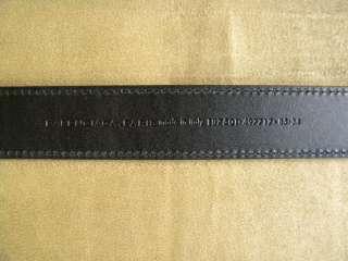 BALENCIAGA BLACK PURPLE WHITE STRIPE TEXTILE LEATHER THIN BELT S 85