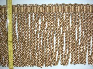 High Quality Bullion Fringe Trim Light Brown