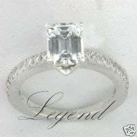 56 Carat Emerald Cut Diamond Engagement Ring F SI1 EGL