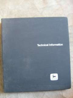 John Deere 2020 Tractor Technical manual Serial no. 117,500 up