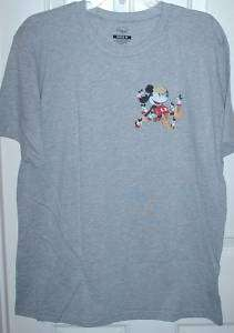 New Disney Mickey Mouse Nightmare T shirt gray mens