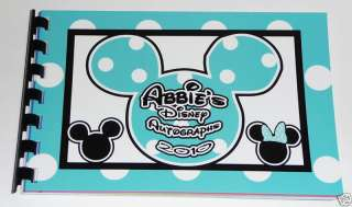 Personalized Disney MICKEY & MINNIE Autograph Book NEW